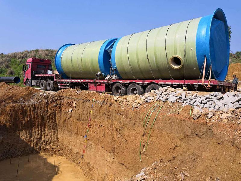 玻璃钢污水一体化泵站案例