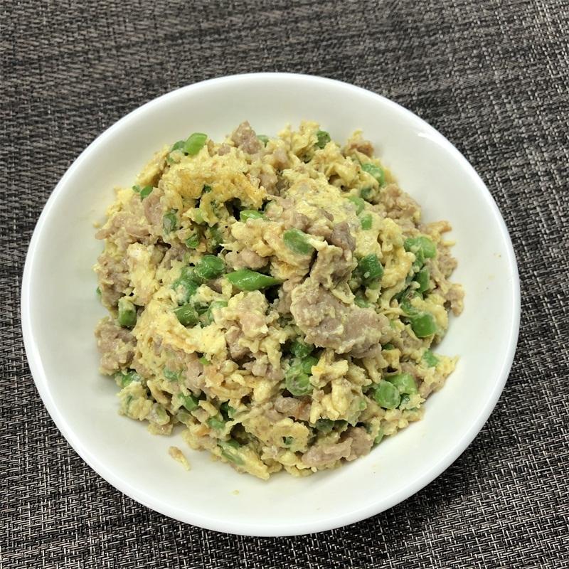 豆角肉粒炒蛋