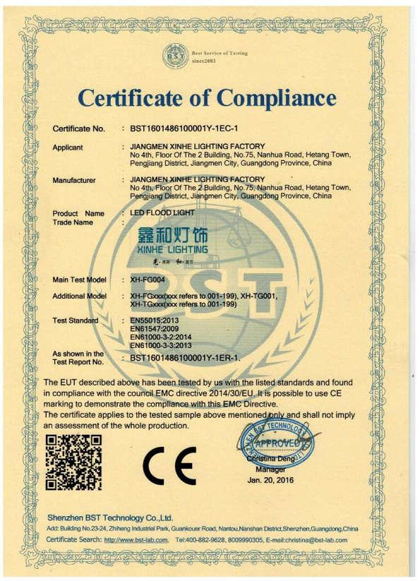 Certifcate of Compliance